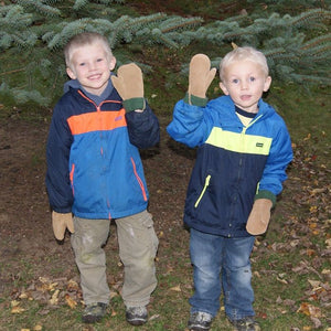 Children's Fleece Lined Suede Mittens