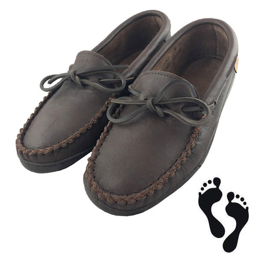 Men's Fudge Moose Hide Leather Moccasin Shoes