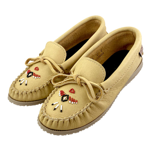 Women's Moose Hide Beaded Moccasin Shoes