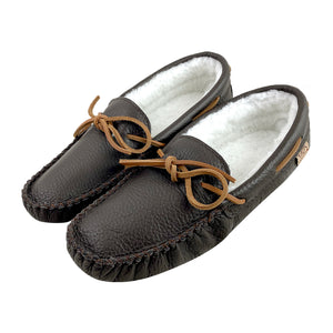 Men's Buffalo Hide Fleece Lined Moccasins