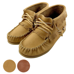Women's Apache Leather Moccasin Boots