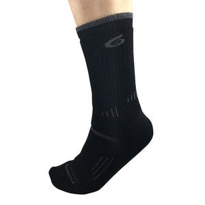Black  Hiking Medium Crew Socks