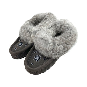Children's Clearance Rabbit Fur Slippers (Size Youth 3 ONLY)