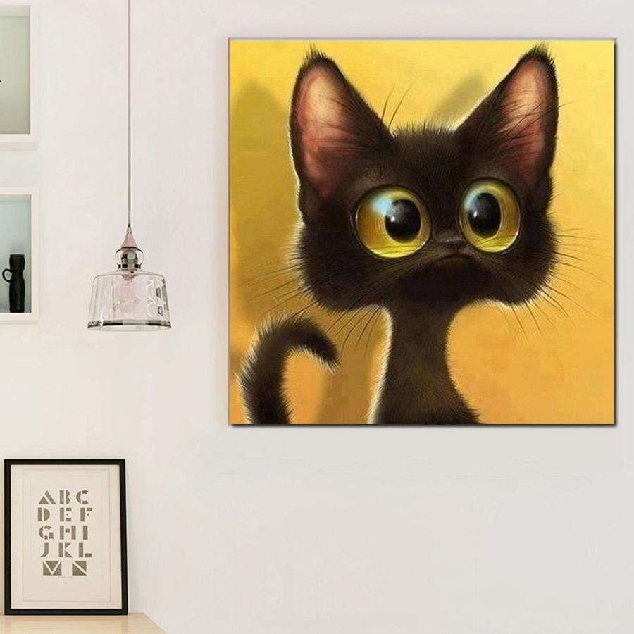 Diamand Painting Kat Cartoon - Hobby-4U