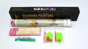 Diamond Painting Bruid in zwarte jurk - Hobby-4U