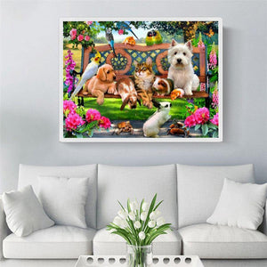 Diamond Painting Dieren in Tuin - Hobby-4U