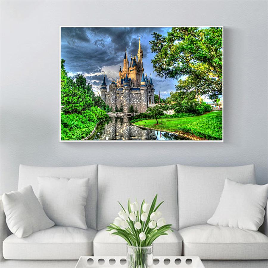 Diamond Painting Kasteel - Hobby-4U