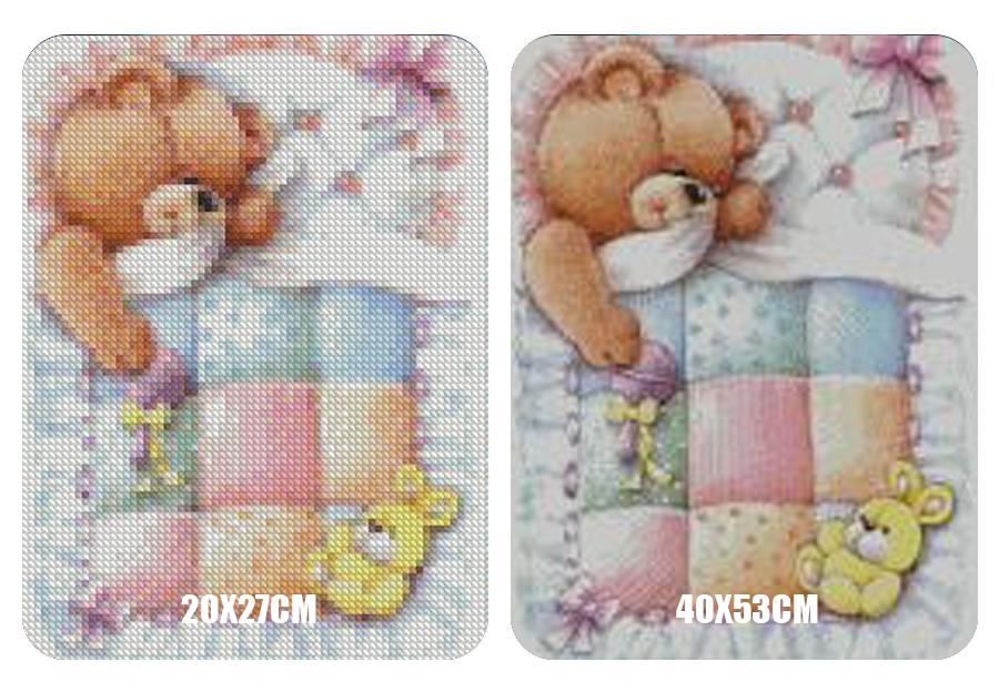 Diamond Painting Slapende Baby Beer - Hobby-4U