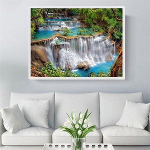 Diamond Painting Waterval Landschap - Hobby-4U