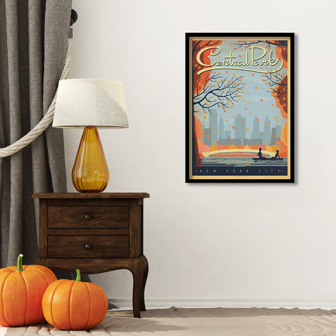 New York City Central Park Autumn by Anderson Design Group framed print