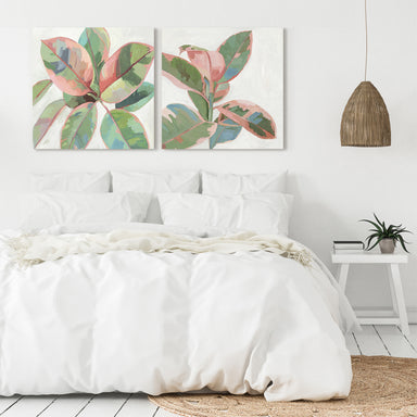 Pink Ficus by PI Creative Art - 2 Piece Gallery Wrapped Canvas Set - Art Set - Americanflat