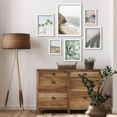 California Coast - 6 Piece Framed Gallery Wall Set - Art Set - Americanflat