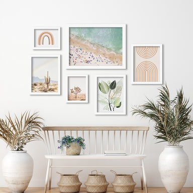 Pastel Beach - 6 Piece Framed Gallery Wall Set - Art Set - Americanflat