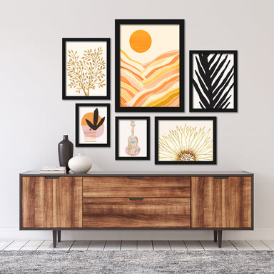 Modern Tropical Pastels Framed Gallery Wall Set -  - Americanflat