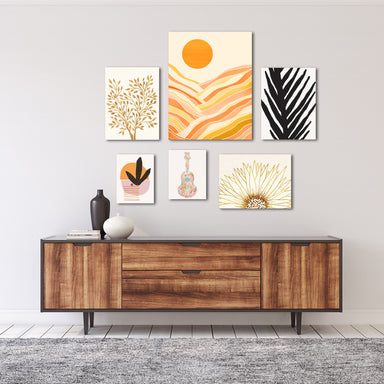Modern Tropical Canvas Gallery Wall Set-2 - Art Set - Americanflat