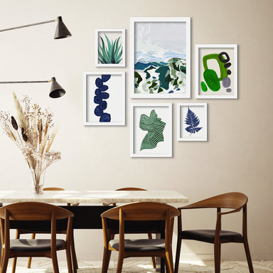 Green Mountains - 6 Piece Framed Gallery Wall Set - Art Set - Americanflat