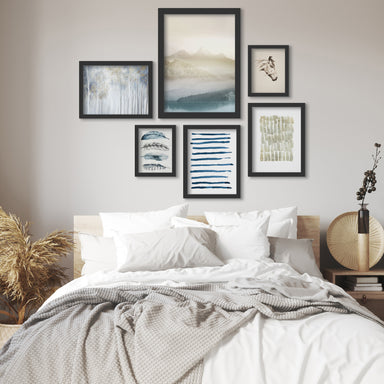 Morning Fog Landscape - 6 Piece Framed Gallery Wall Set - Art Set - Americanflat