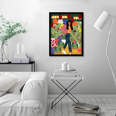 I Always Want To See Flowers by Studio Grand-Pere Black Framed Print - Framed Print - Americanflat