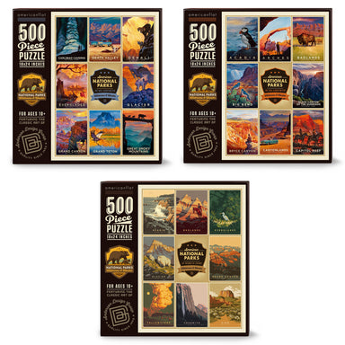 National Parks Puzzle Bundle: Set of 3 Jigsaw Puzzles - Bundle - Americanflat