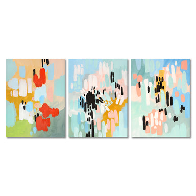 Colorful Abstract Canvas Print Gallery Wall Set - Wrapped Canvas - Americanflat