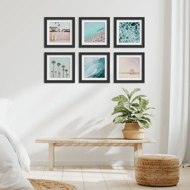 California Surf - 6 Piece Framed Gallery Wall Set - Americanflat