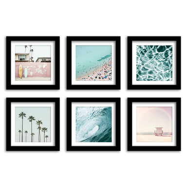 California Surf - 6 Piece Framed Gallery Wall Set