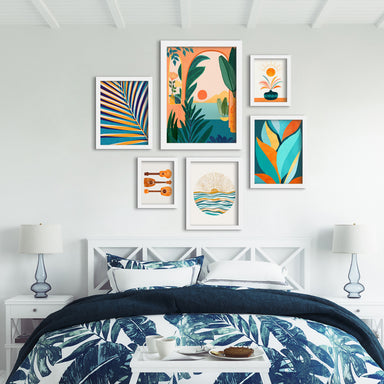 Ocean View - 6 Piece Framed Gallery Wall Set - Art Set - Americanflat