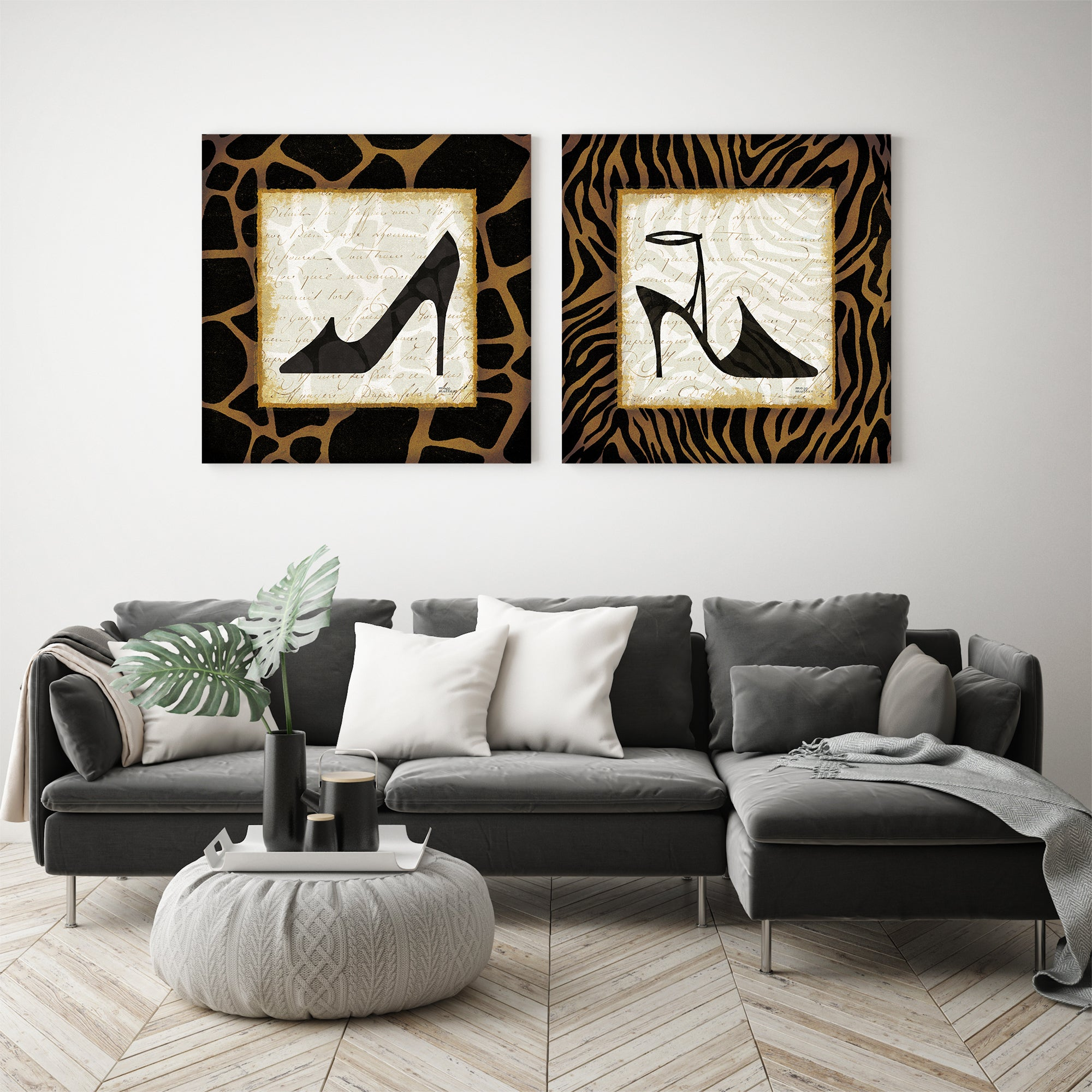 Safari Shoes - 2 Piece Gallery Wrapped Canvas Set by Wild Apple Portfolio - Art Set - Americanflat