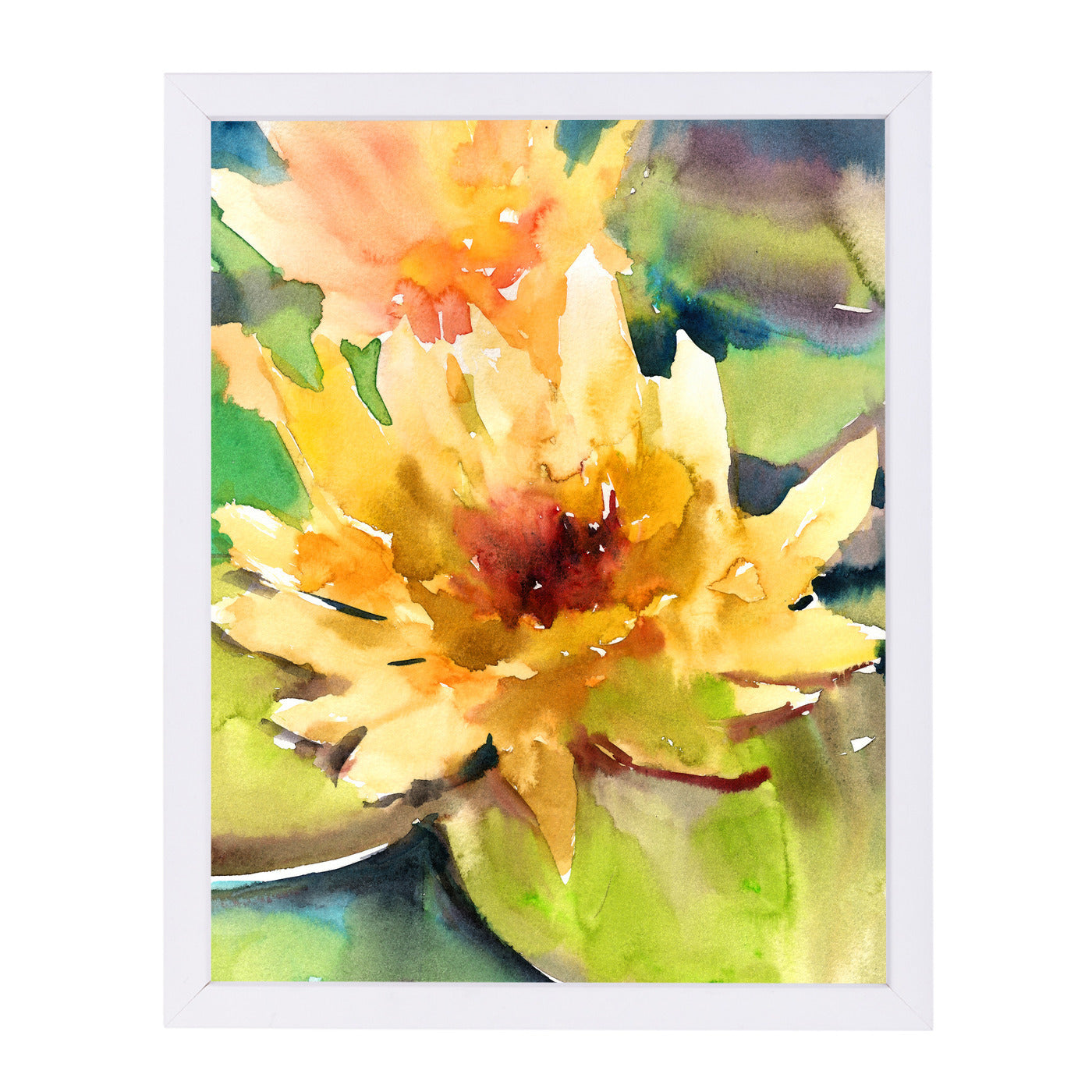 Lotus Yellow by Suren Nersisyan Framed Print - Wall Art - Americanflat