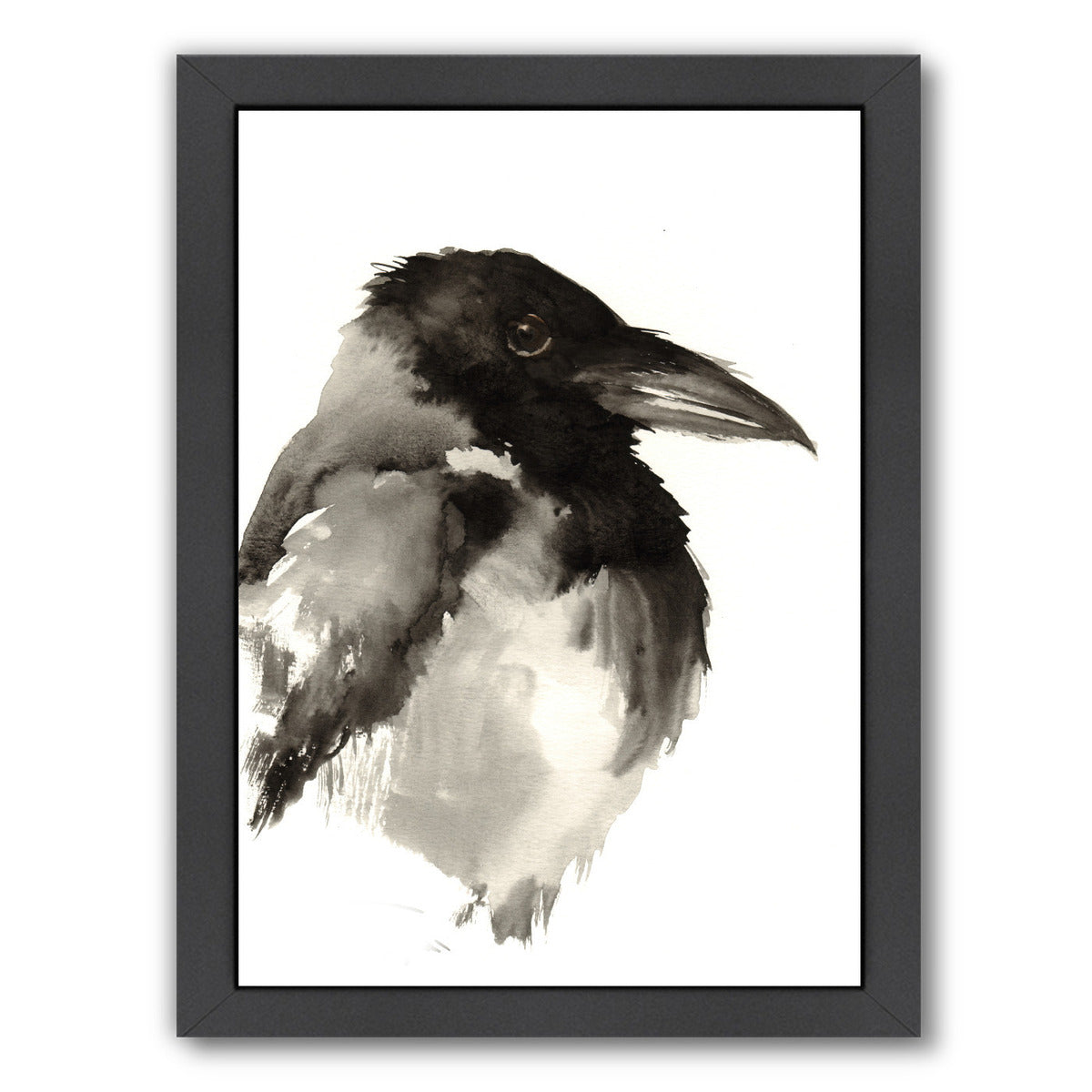 Crow by Suren Nersisyan Framed Print - Wall Art - Americanflat