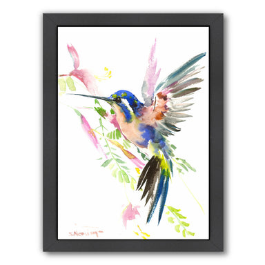 Hummingbird Flying by Suren Nersisyan Framed Print - Wall Art - Americanflat