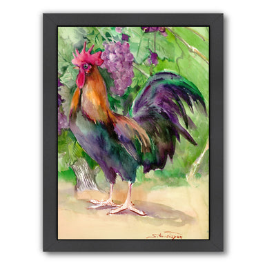 Rooster And Grapes by Suren Nersisyan Framed Print - Wall Art - Americanflat