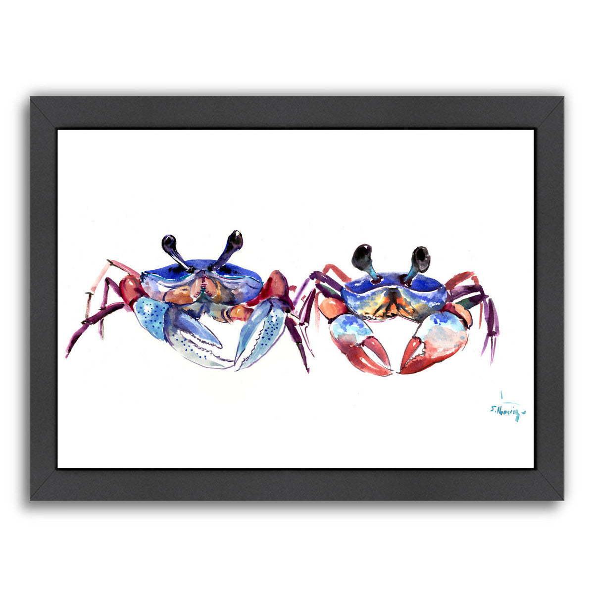 Two Crabs by Suren Nersisyan Framed Print - Wall Art - Americanflat