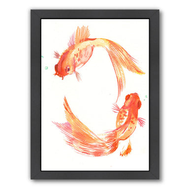 Gold Fish Feng Shui by Suren Nersisyan Framed Print - Wall Art - Americanflat