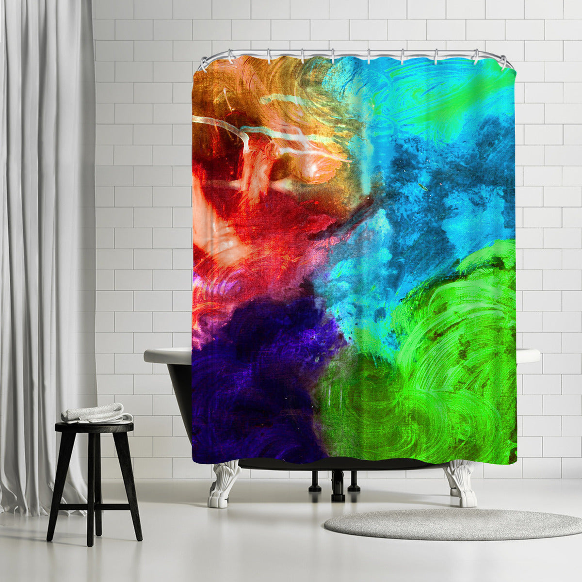 Expressions 3 by Destiny Womack Shower Curtain -  - Americanflat