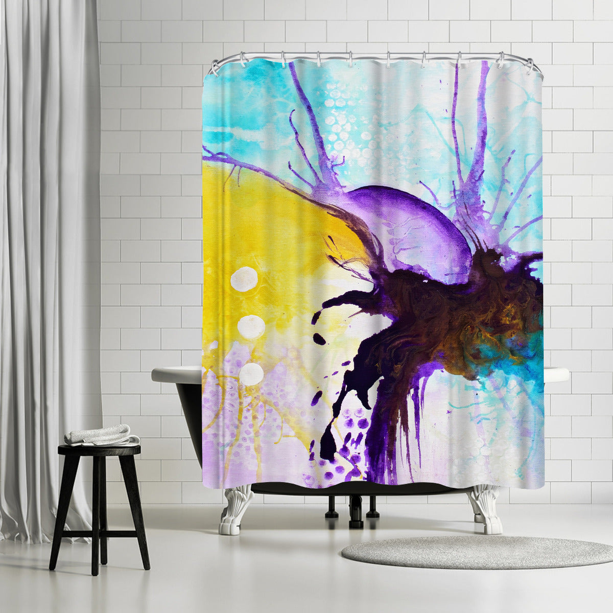 Finding Balance IV by Destiny Womack Shower Curtain -  - Americanflat