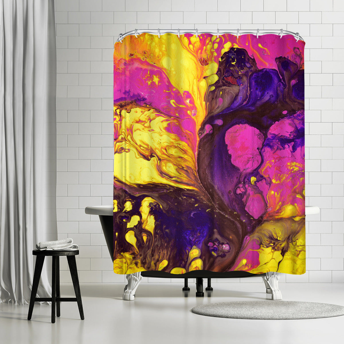 Kissing Sunset by Destiny Womack Shower Curtain -  - Americanflat