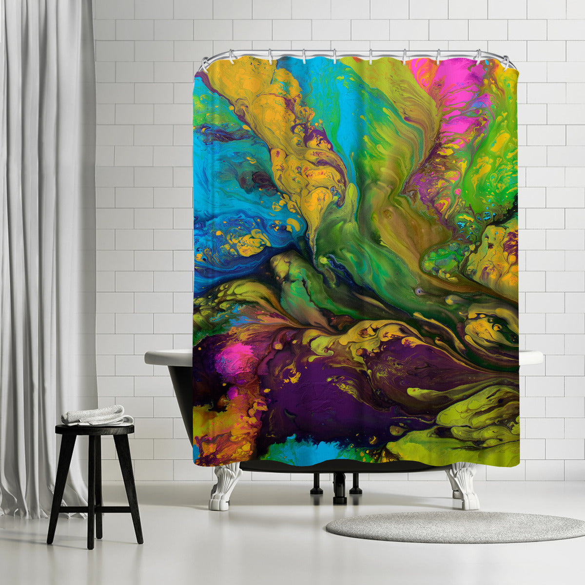 Rhapsody by Destiny Womack Shower Curtain - Shower Curtain - Americanflat