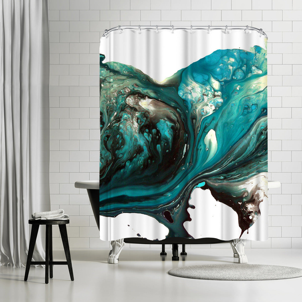 Teardrops IV by Destiny Womack Shower Curtain