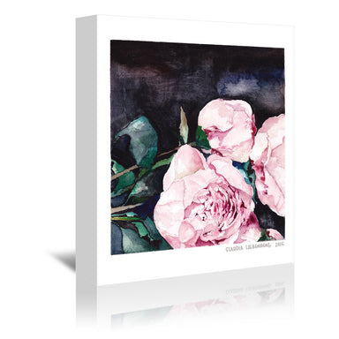 Dark Florals by Claudia Liebenberg - 3 Piece Wrapped Canvas Set - Wrapped Canvas - Americanflat