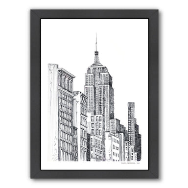 New York by Claudia Liebenberg Framed Print - Wall Art - Americanflat