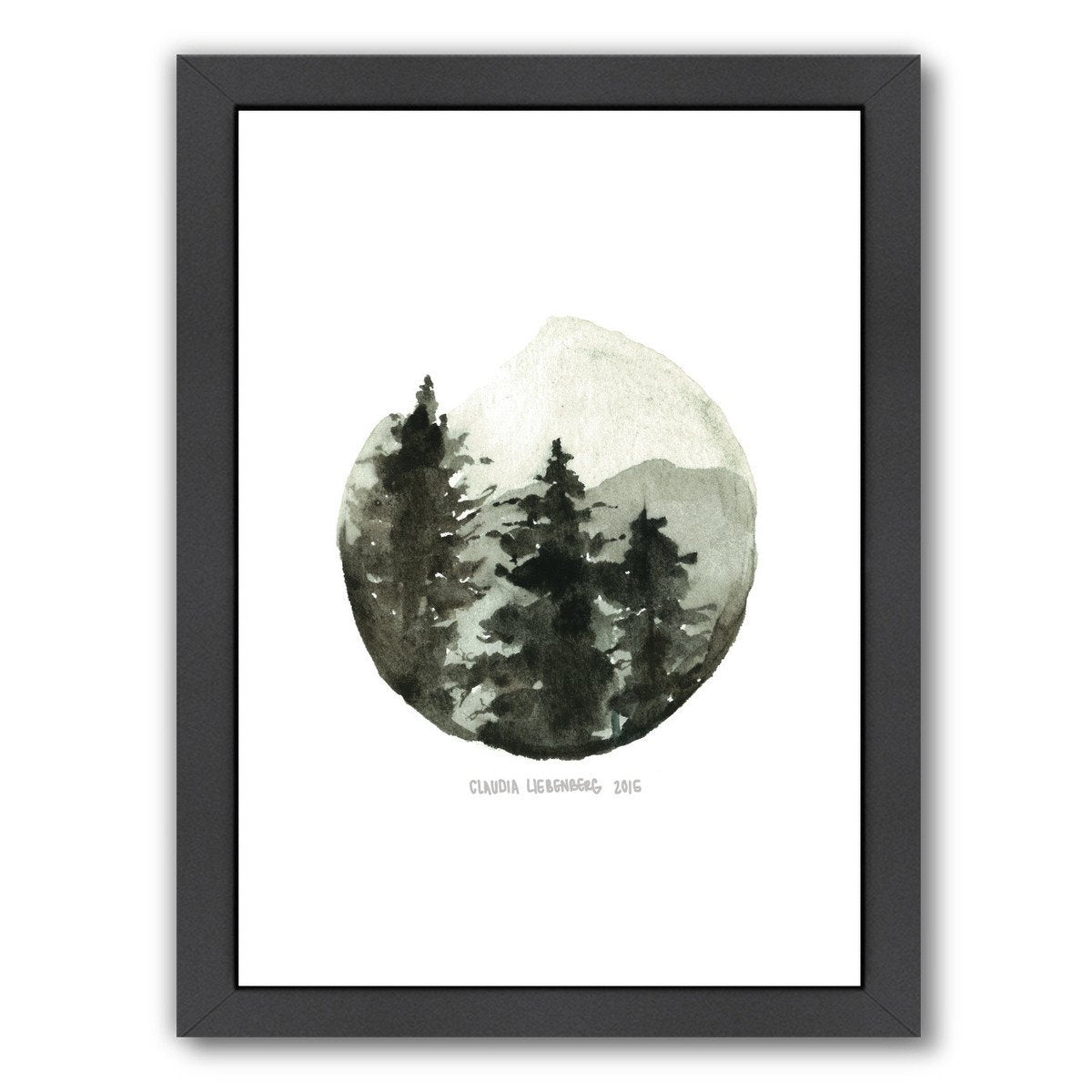 Brown Mountain by Claudia Liebenberg Framed Print - Wall Art - Americanflat