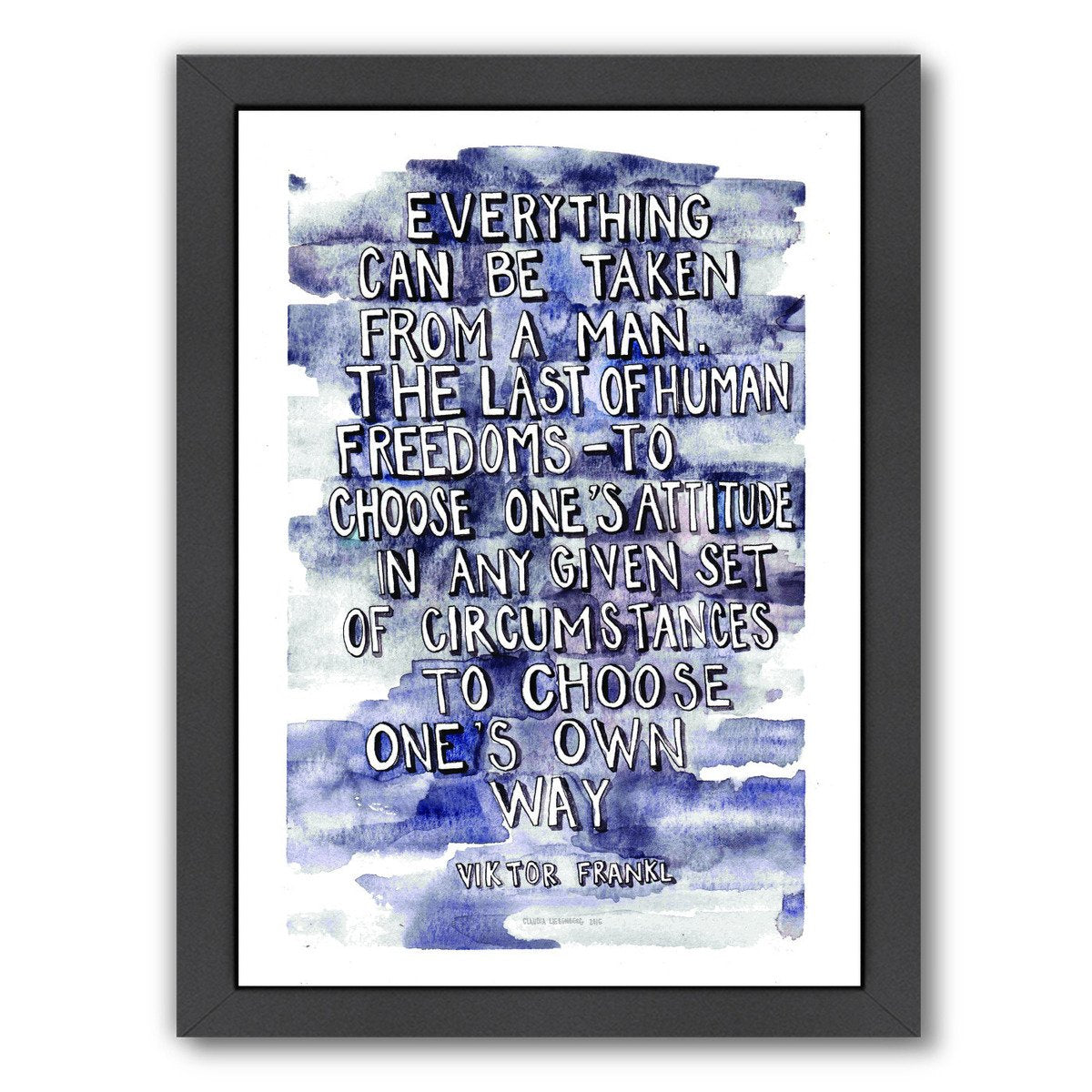 Viktor Frankl by Claudia Liebenberg Framed Print - Wall Art - Americanflat