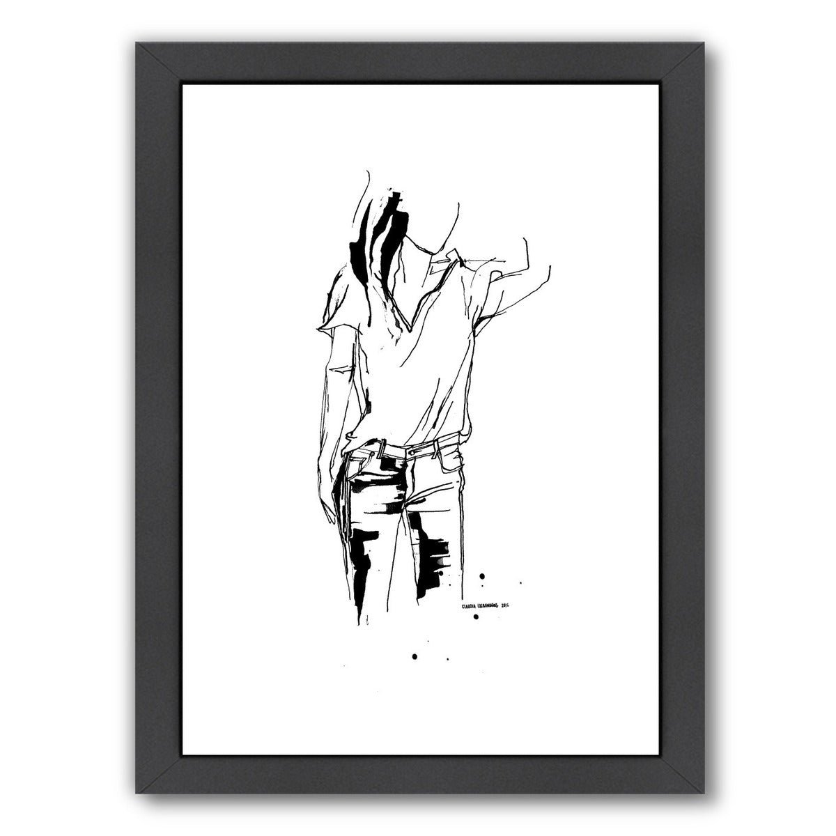 Inked 2 by Claudia Liebenberg Framed Print - Americanflat