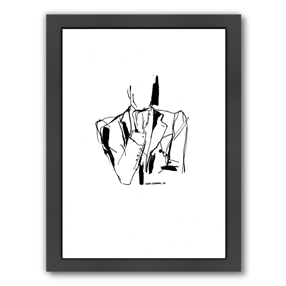 Inked 3 by Claudia Liebenberg Framed Print - Wall Art - Americanflat