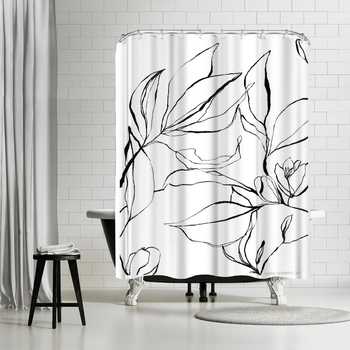 Citrus Blossoms by Claudia Libenberg Shower Curtain -  - Americanflat