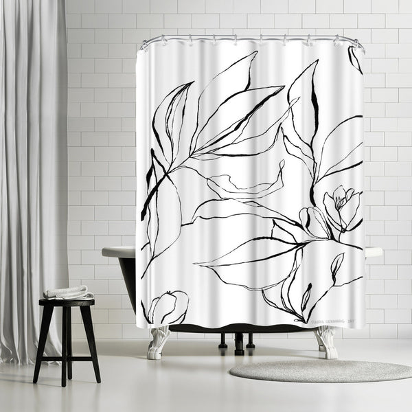 Citrus Blossoms by Claudia Libenberg Shower Curtain