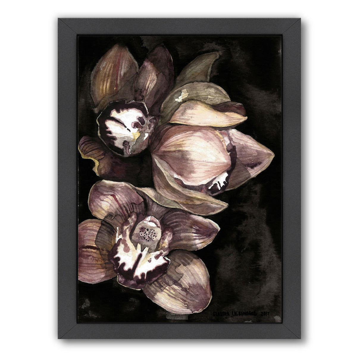 Rusted Orchid by Claudia Liebenberg Framed Print - Wall Art - Americanflat
