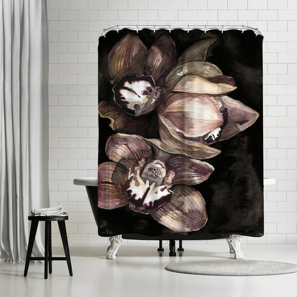 Rusted Orchid by Claudia Libenberg Shower Curtain