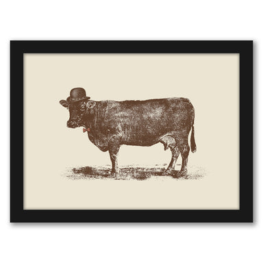 Cow Cow Nut By Florent Bodart - Black Framed Print - Wall Art - Americanflat